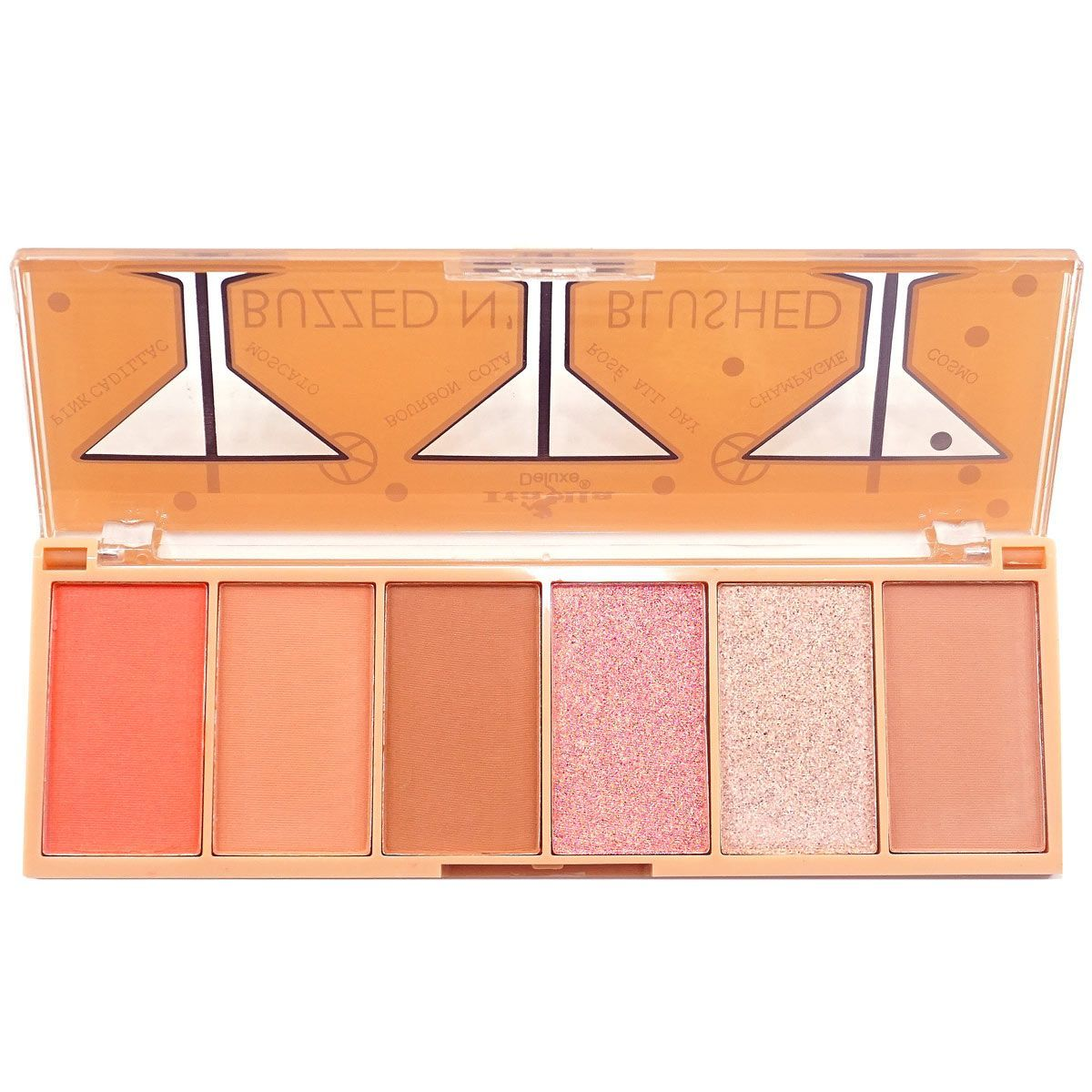 ITA-3006-1 : Buzzed N' Blushed-Blush & Highlighter Palette 1 DZ