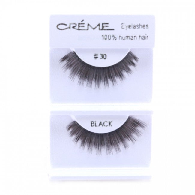 The Creme Shop 100% Human Hair Eyelashes #30 Wholesale - Cosmeticholic