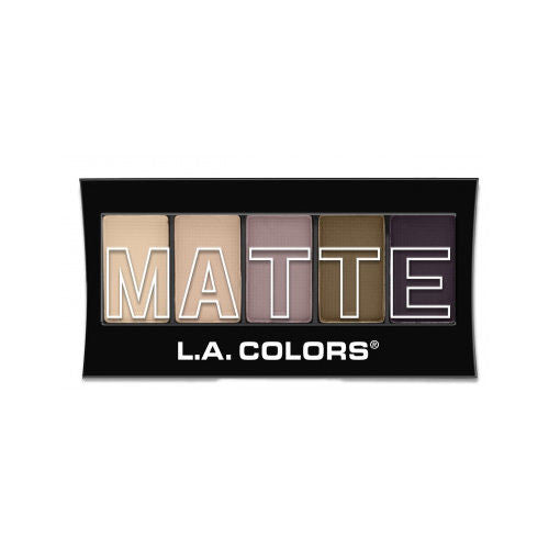 [ CEM471 Natural Linen ] L.A. COLORS 5 Colors Matte Eyeshadow Palette Wholesale-Cosmeticholic