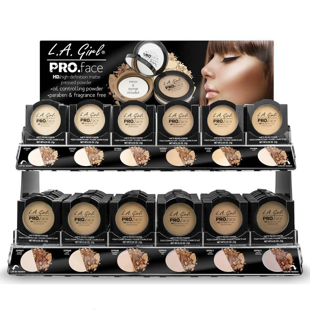 GCD198.1: Pro Face Matte Pressed Powder Display Set  144 PC + 12 Tester