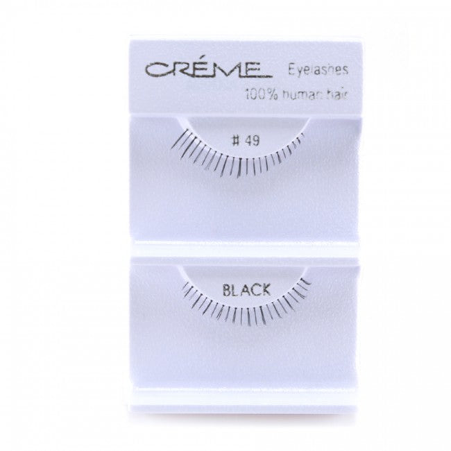 The Creme Shop 100% Human Hair Eyelashes #49 Wholesale - Cosmeticholic