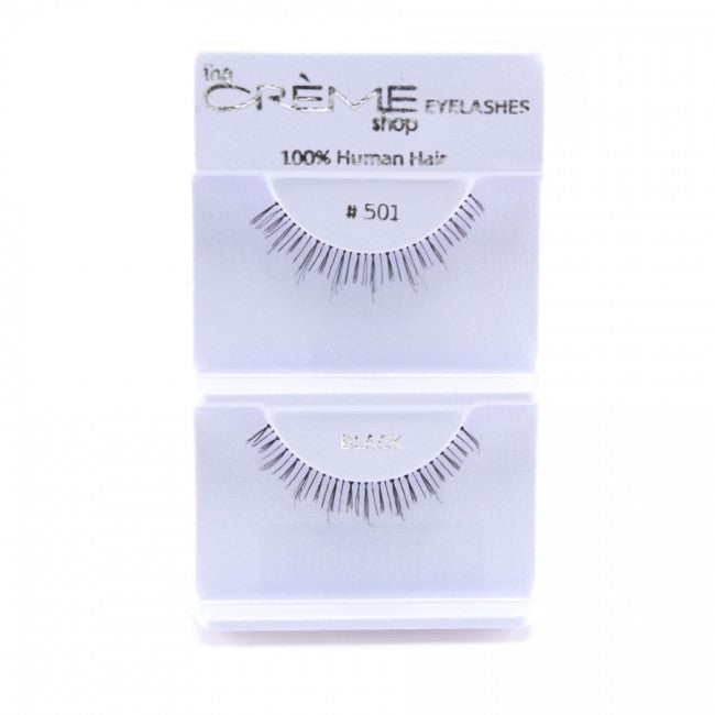 The Creme Shop 100% Human Hair Eyelashes #501 Wholesale - Cosmeticholic