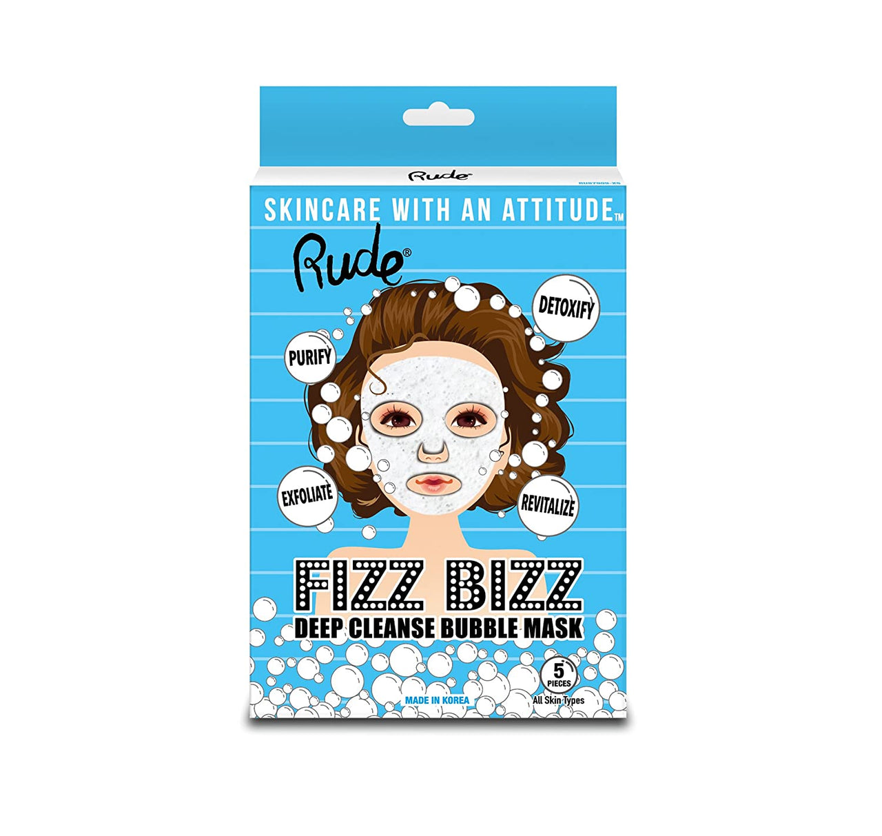 Rude RU87909X5 : Fizz Bizz Deep Cleanse Bubble Mask Wholesale-Cosmeticholic