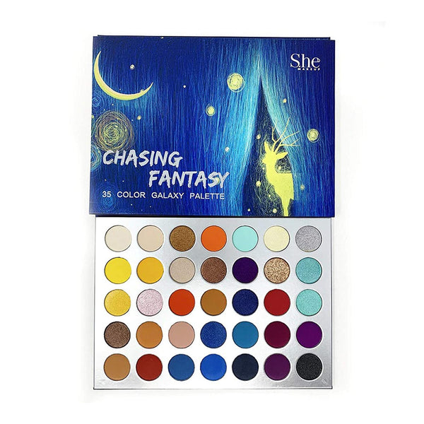 She Makeup SP02 : Chasing Fantasy  35 Color Galaxy Palette Wholesale