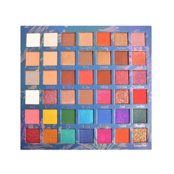 MG-653A : Secret Lagoon 42 Color Eyeshadow Palette 6 PC