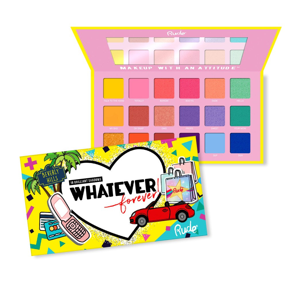 Rude Cosmetics 88002 Whatever Forever : 88002 : 18 Eyeshadow Palette Wholesale-Cosmeticholic