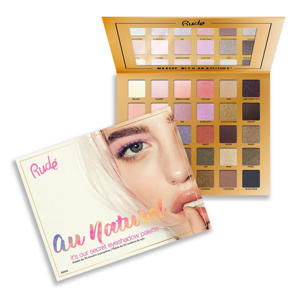 Rude Cosmetics Au Naturel 30 Eyeshadow Palette Wholesale-Cosmeticholic