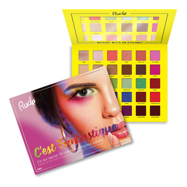 Rude Cosmetics C'est Fantastique 30 Eyeshadow Palette Wholesale-Cosmeticholic