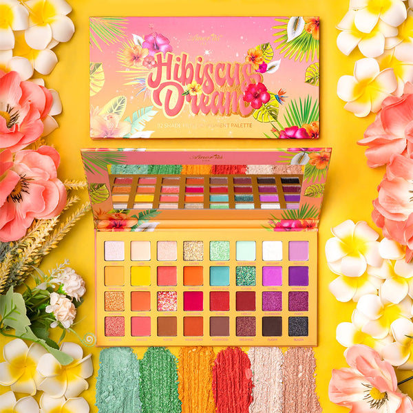 Amorus HDESD Hibiscus Dream 32 Color  Palette Cosmetic Wholesale-Cosmeticholic