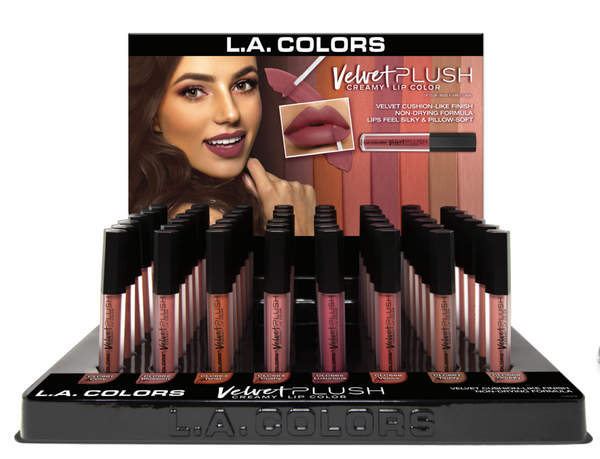 LAC-CLAC455 :  Velvet Plush Lipgloss Promo Display Set 48 PC
