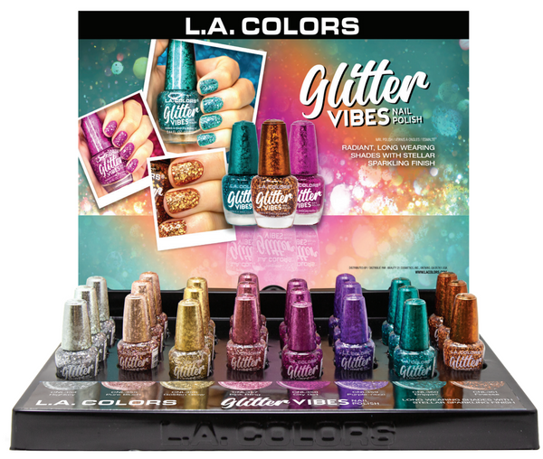 LAC-CLAC456 : Glitter Vibes Polish Promo Display Set 24 PC