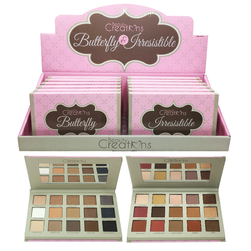 E15AB: Beauty Creations Butterfly & Irresistible Eyeshadow Palette Wholesale-Cosmeticholic