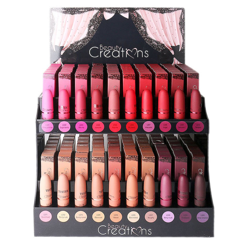 Beauty Creations Tease Me Matte Lipstick Full Set Display-Cosmetic holic