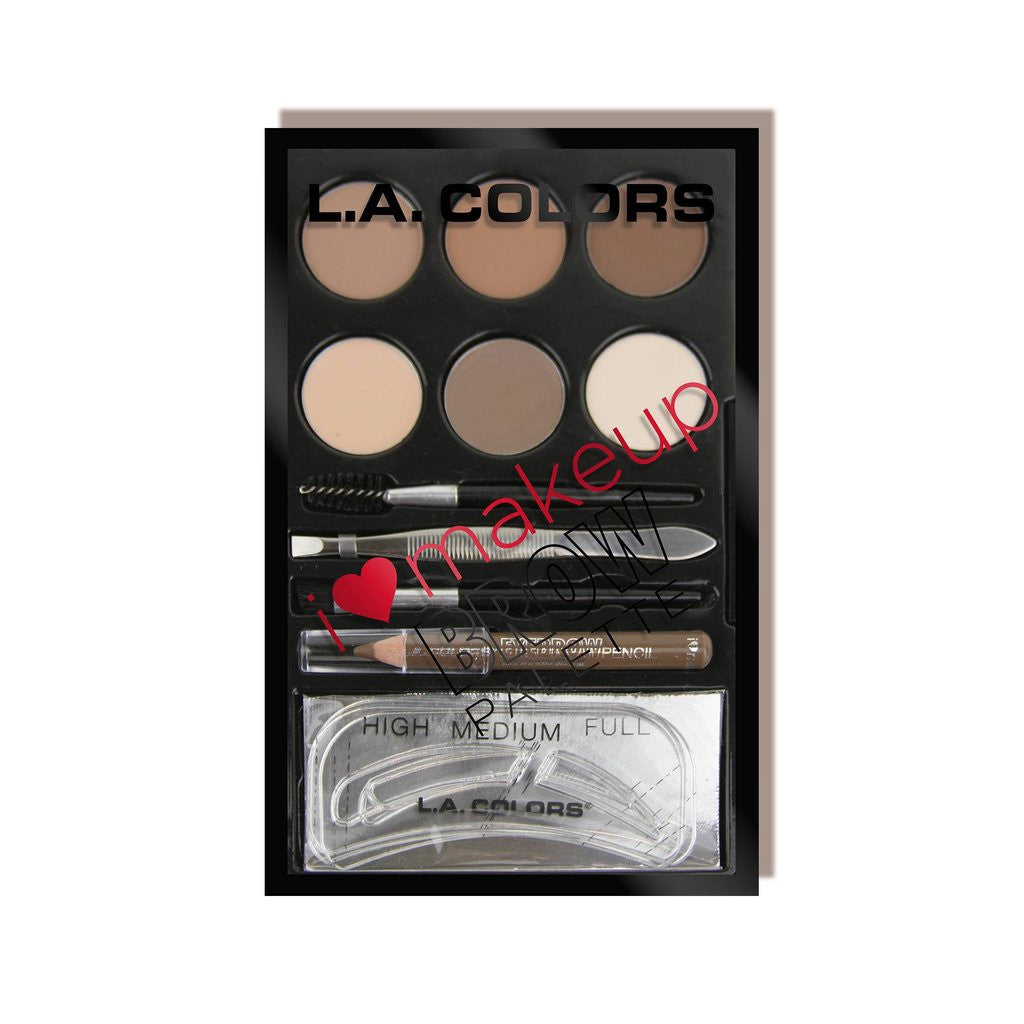 L.A. COLORS I heart makeup Eyebrow Palette C30354 Light to Medium cosmetics wholesale price-cosmeticholic
