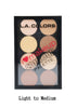 L.A. COLORS I Heart Makeup Contour Palette C30352 Light to Medium wholesale - Cosmeticholic