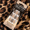 LAC-CNT244 : Nail Vibe Designer Artificial Nail Tip Kit Chic in Cheetah 3 PC