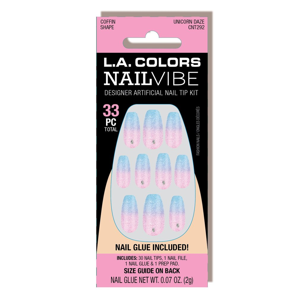 CNT292 : Nail Vibe Designer Artificial Nail Tip Kit Unicorn Daze 3 PC