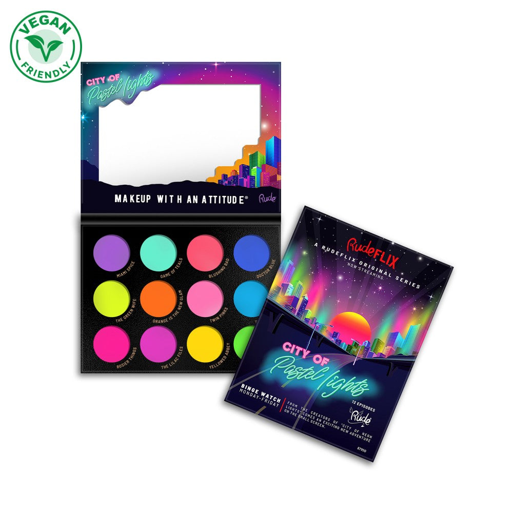 RU-87950 : City of Pasetl Lights-12 Pastel Pigment & Eyeshadow Palette 6 PC