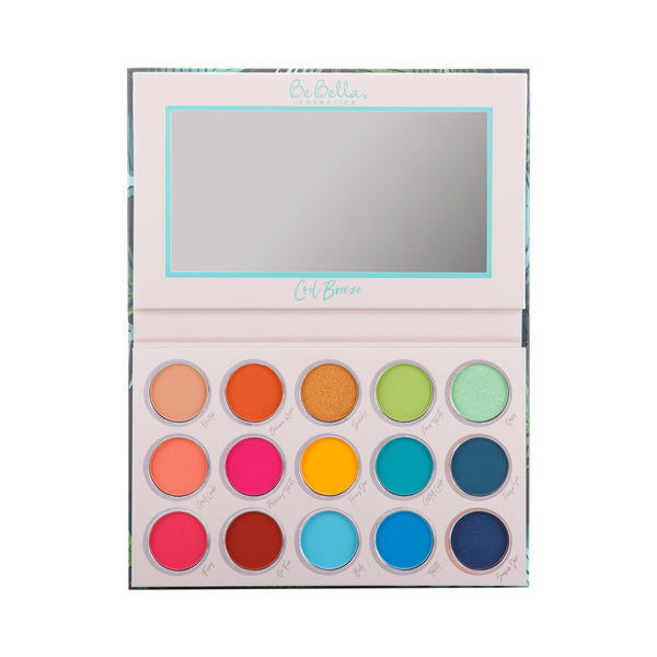 Be Bella BE15A : Cool Breeze 15 Color Eyeshadow Palette Wholesale-Cosmeticholic