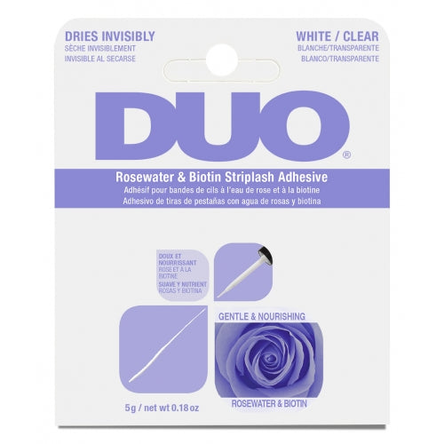 DUO-62196 : DUO Rosewater & Biotin Striplash Adhesive-White/Clear 6 PC