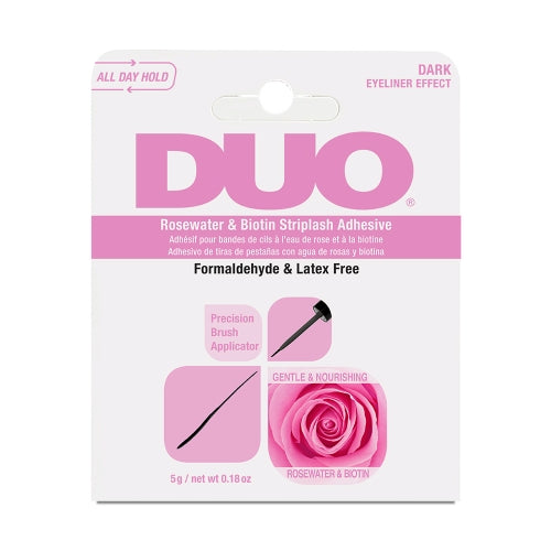 DUO-62197 : Rosewater & Biotin Striplash Adhesive-Dark 6 PC