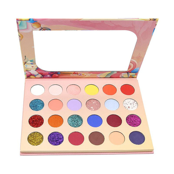 OKL-E103 : Candyland-24 Color Pressed Pigment Palette 6 PC