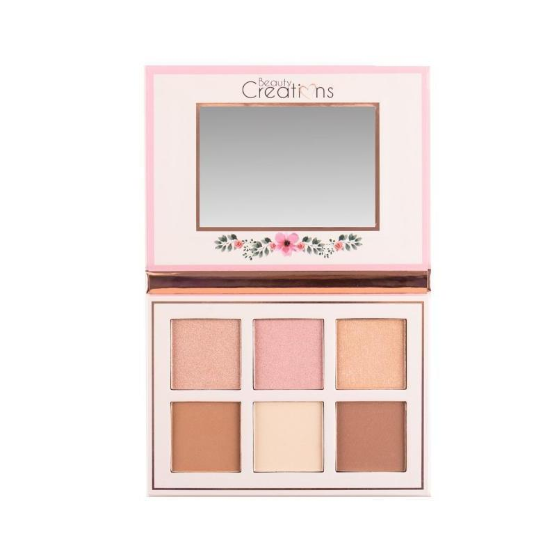 CF01 : Beauty Creations Cosmetics Floral Bloom Contour & Highlight Palette Wholesale-Cosmeticholic