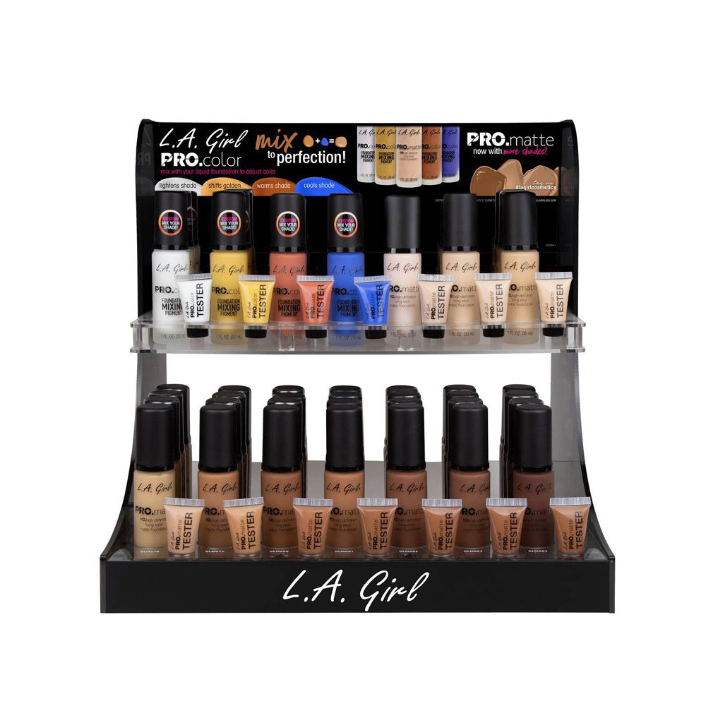 LAG-284.1 :  Pro. Color and Pro. Matte Display Set 84 PC  + 14 Tester (New Shades)