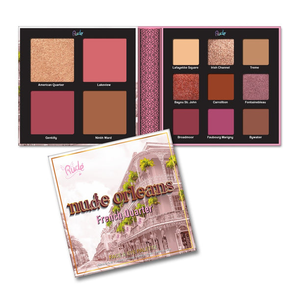 Rude 21048 Nude Orleans Face & Eye Palette Wholesale-Cosmeticholic