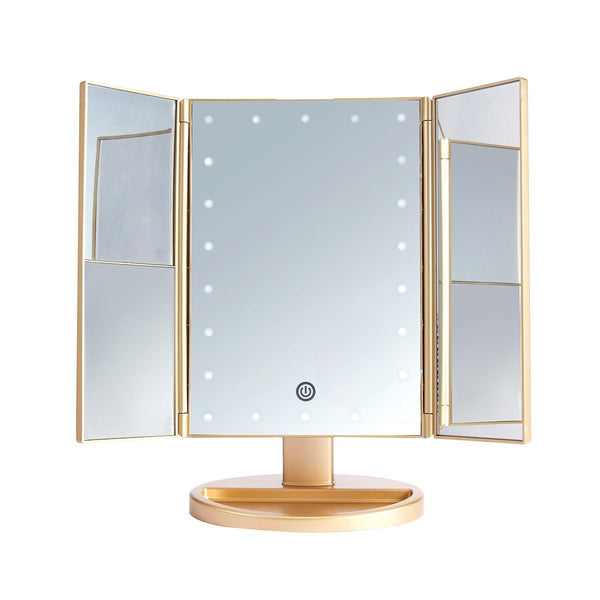 LUR-J08GOLD : LED Desktop Mirrow-Midas Gold