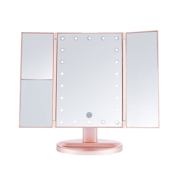 LUR-J08ROSEGOLD : LED Desktop Mirrow-RAMBUNCTIOUS ROSE