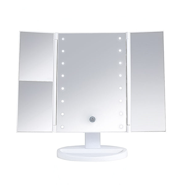LUR-J08WHITE : LED Desktop Mirrow-WHITE AS SNOW