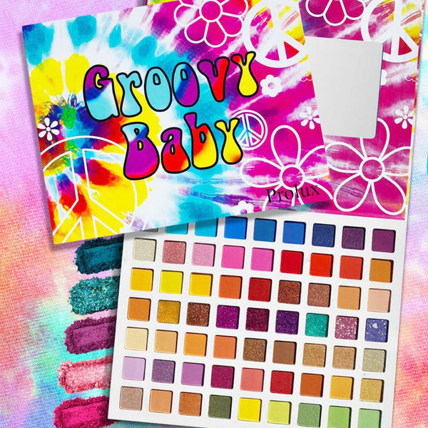 Prolux K652 Groovy Baby 63 Color Eyeshadow Palette
