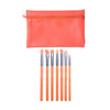 Prolux Sun Kissed 7PC Makeup Brush Set Orange Cosmetic Wholesale-Cosmeticholic