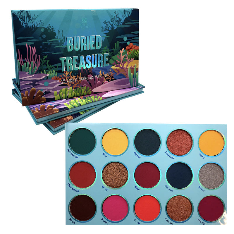 MG-676 : Buried Treasure 15 Color Makeup Palette 6 PC