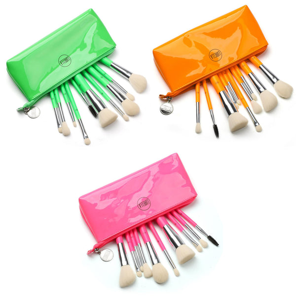 Lurella NBS10 10 Piece Neon Brush Set Cosmetic Wholesale-Cosmeticholic
