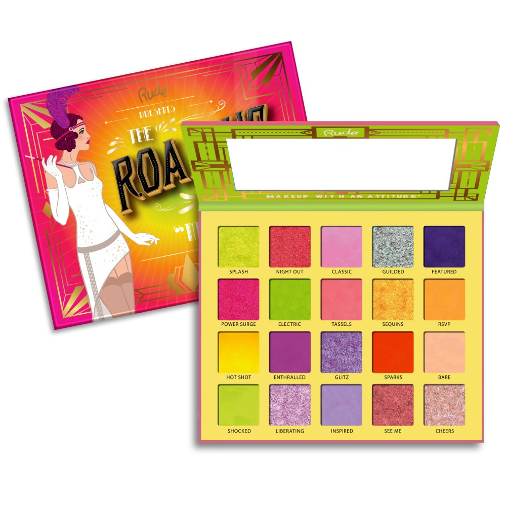 88066 Rude The Roaring 20's Eyeshadow Palette Neon Wholesale-Cosmeticholic