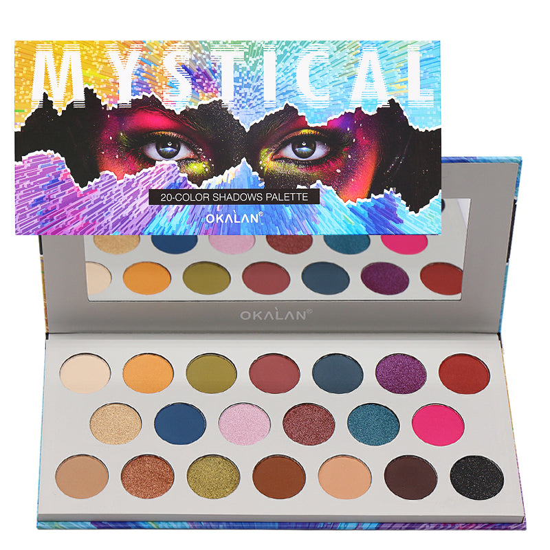 OKL-E079 : Mystical 20 Color Eyeshadow Palette 6 PC