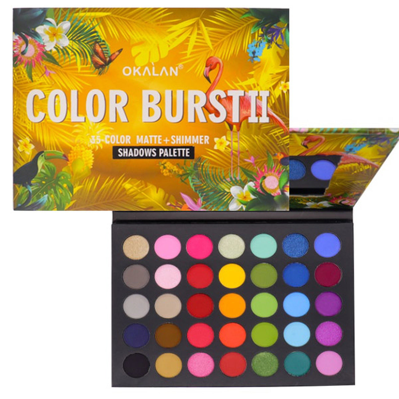 OKL-E095 : Color Burst II-35 Matte+Shimmer Shadows Palette 6 PC