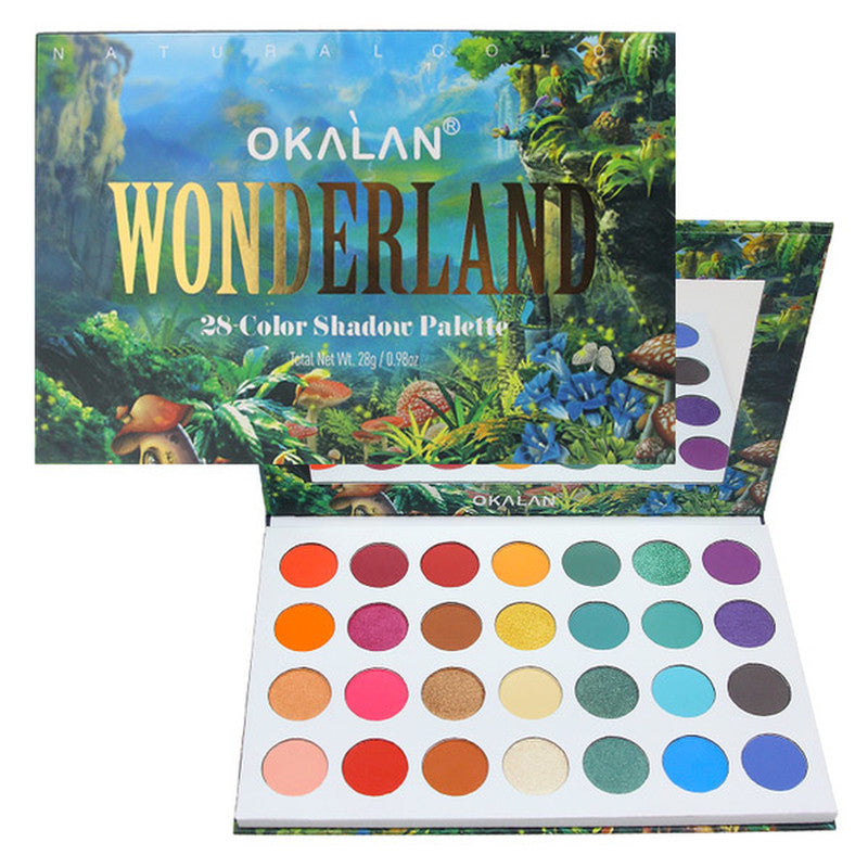 OKL-E102 : Wonderland-28 Color Shadow Palette 6 PC