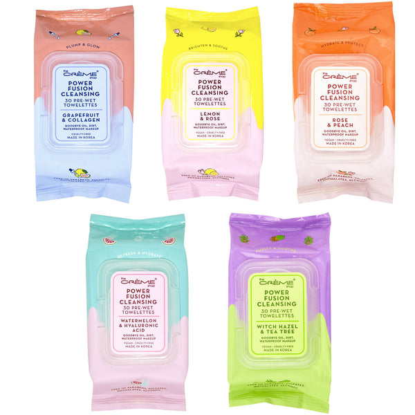The Creme Shop Power Fusion Cleansing 30 Pre-Wet Towelettes Cosmetic Wholesale-Cosmeticholic