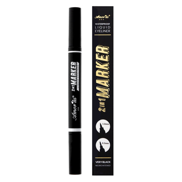 AM-COEMD6 : 2in1 Marker Waterproof Liquid Eyeliner 2 DZ