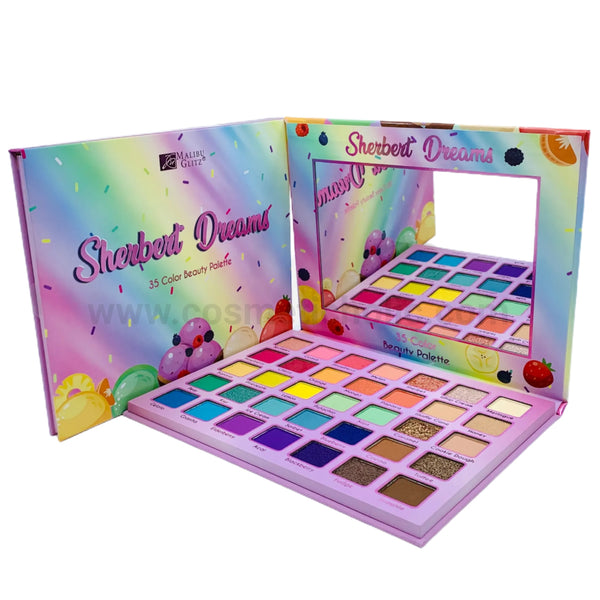MG-685 : Malibu Glitz Sherbert Dreams 35 Color Beauty Palette 6 PC