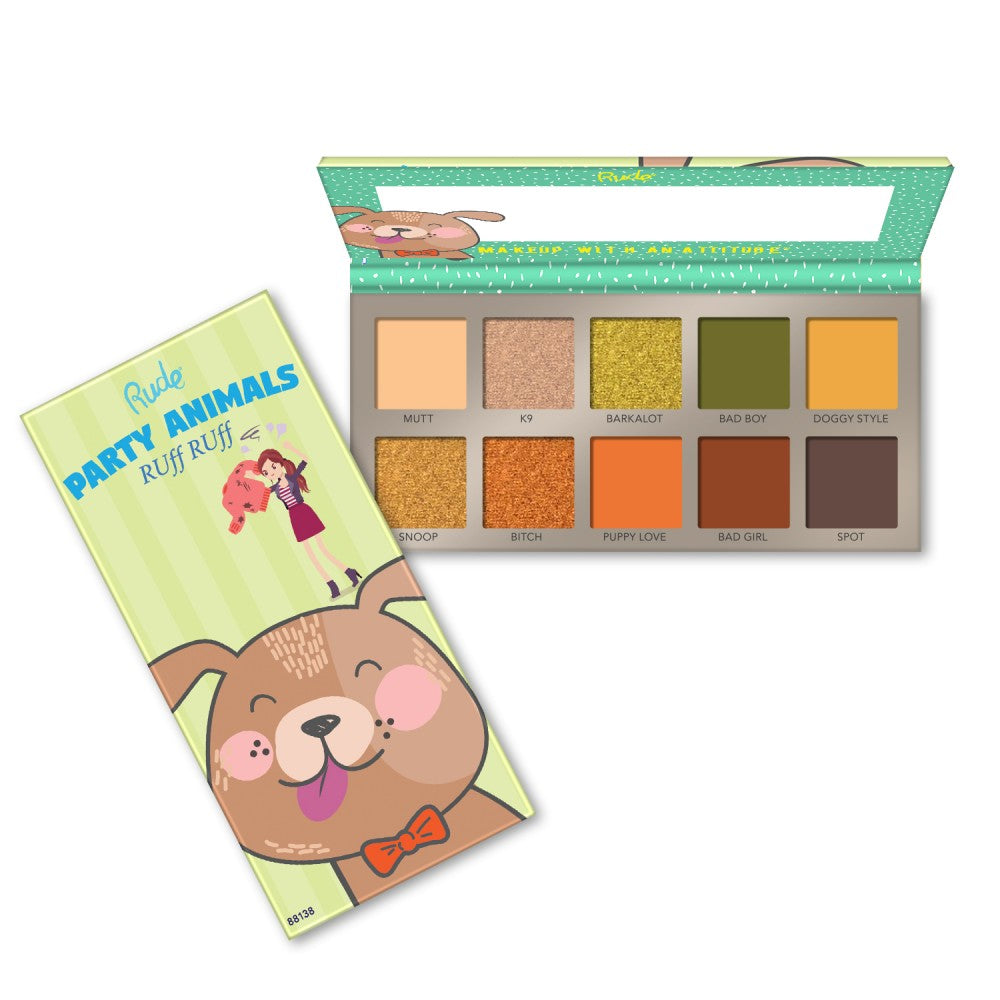 RU-88138 : Party Animal 10 Eyeshadow Palette RUff RUff 6 PC