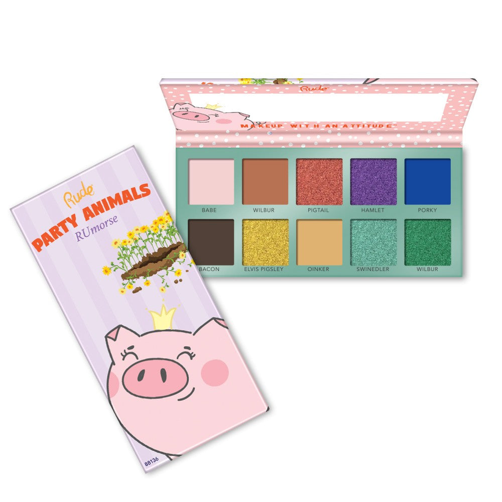 RU-88136 : Party Animal 10 Eyeshadow Palette RUmorse 6 PC