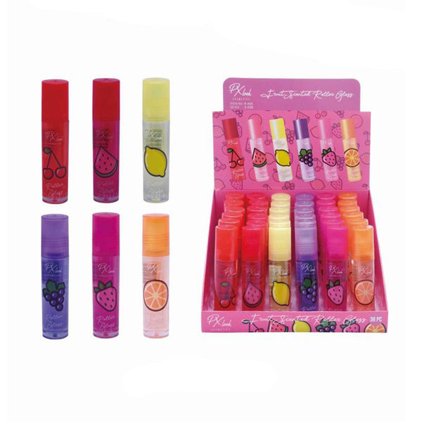 PX Look S443 Fruit Scented Roller Gloss Cosmetic Wholesale-Cosmeticholic
