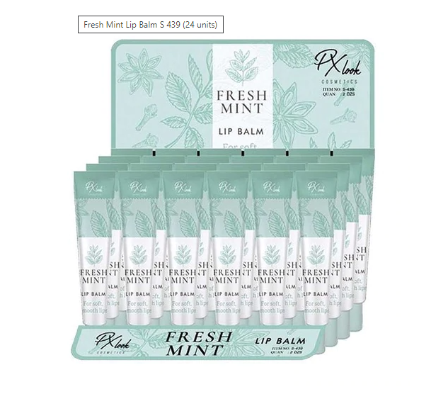 PX-S439 : Fresh Mint Lip Balm-For Soft, Smooth Lips 2 DZ