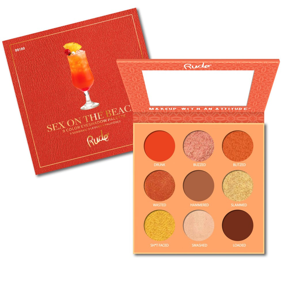Rude Cosmetics 88180 Sex On The Beach : Cocktail Party 9 Color Eyeshadow Palette Wholesale-Cosmeticholic