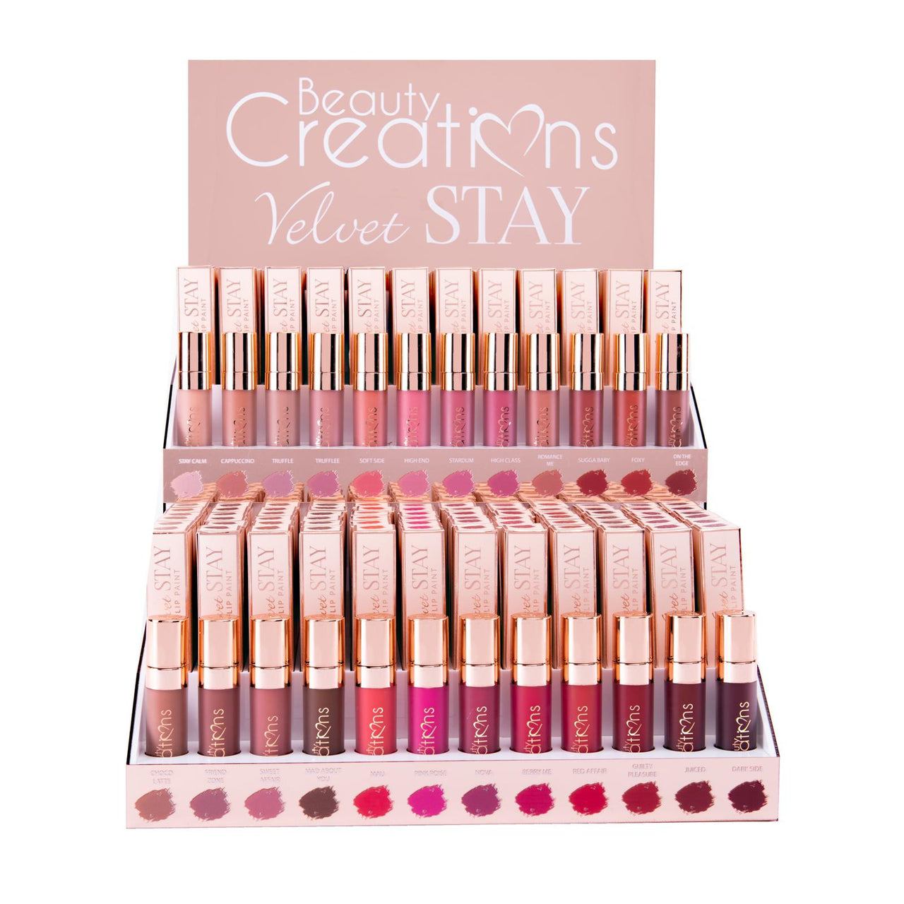Beauty Creations DLVS Velvet Stay Lip Paint Full Set with Testers Cosmetic Wholesale-Cosmeticholic