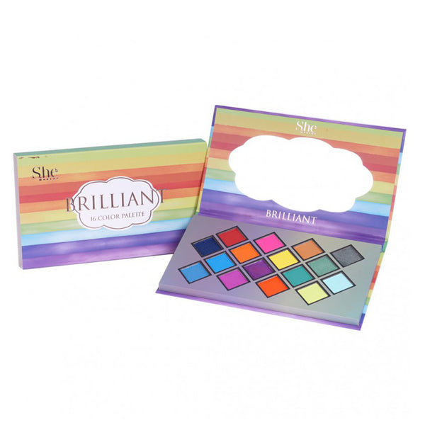 "SH-SP09 : ""Brilliant"" 16 Color Palette 6 PC"